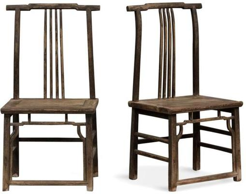 Pair of Antique Yoke Back Chairs