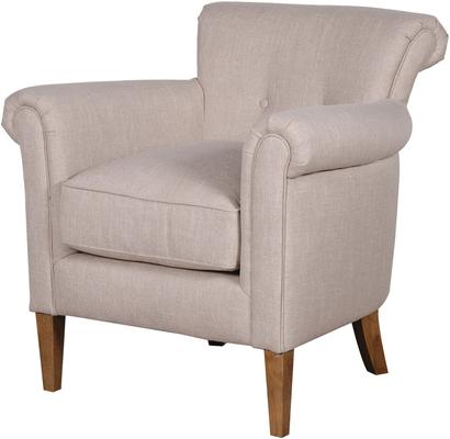 Upholstered Comfy Linen Armchair