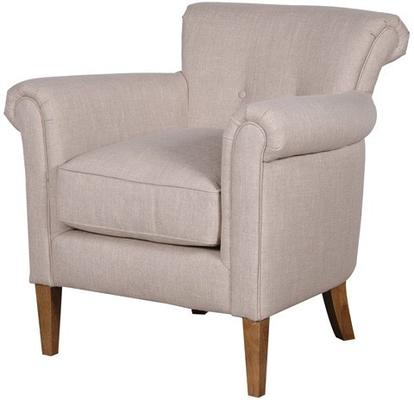 Upholstered Comfy Linen Armchair image 2
