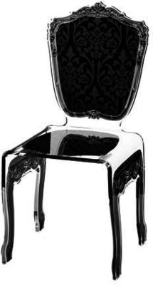 Baroque Acrylic Chair Glossy Design image 2