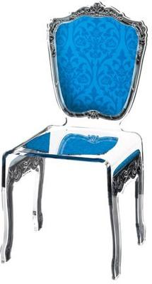Baroque Acrylic Chair Glossy Design image 4