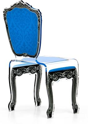 Baroque Acrylic Chair Glossy Design image 5