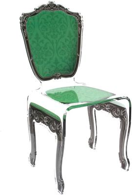 Baroque Acrylic Chair Glossy Design image 6