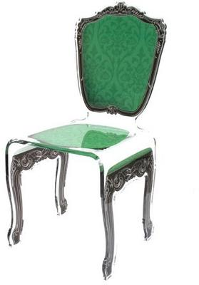 Baroque Acrylic Chair Glossy Design image 7