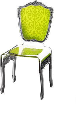 Baroque Acrylic Chair Glossy Design image 8