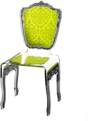 Baroque Acrylic Chair Glossy Design image 9