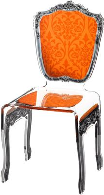 Baroque Acrylic Chair Glossy Design image 10