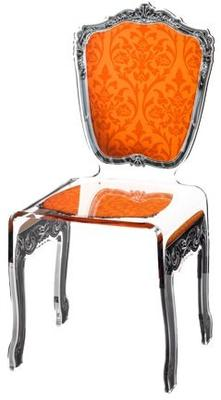 Baroque Acrylic Chair Glossy Design image 11