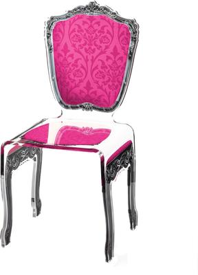 Baroque Acrylic Chair Glossy Design image 12