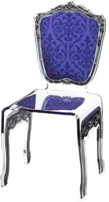 Baroque Acrylic Chair Glossy Design image 16