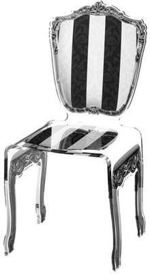 Baroque Acrylic Chair Glossy Design image 20