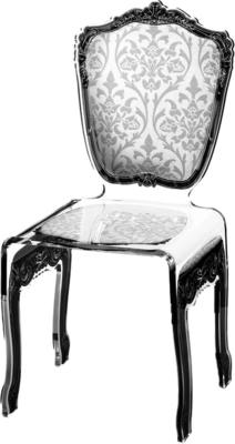 Baroque Acrylic Chair Glossy Design image 21