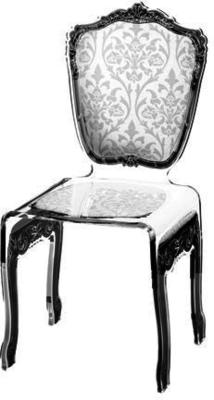 Baroque Acrylic Chair Glossy Design image 22