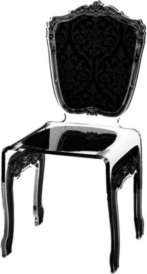 Baroque Acrylic Chair Glossy Design