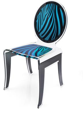 Acrylic Louis Chair Glossy French Quirky Design