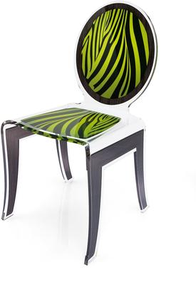 Acrylic Louis Chair Glossy French Quirky Design image 3
