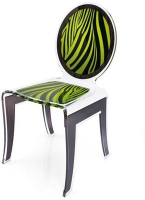 Acrylic Louis Chair Glossy French Quirky Design image 4
