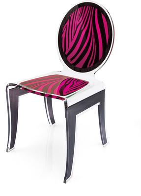 Acrylic Louis Chair Glossy French Quirky Design image 5