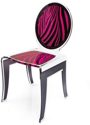 Acrylic Louis Chair Glossy French Quirky Design image 6