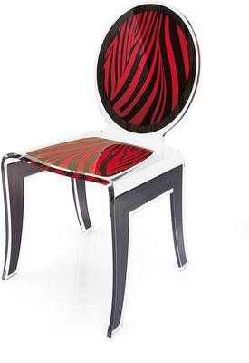 Acrylic Louis Chair Glossy French Quirky Design image 7