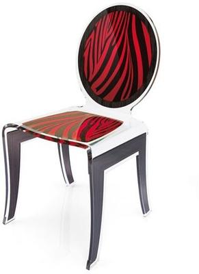 Acrylic Louis Chair Glossy French Quirky Design image 8