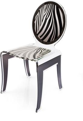 Acrylic Louis Chair Glossy French Quirky Design image 9