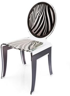 Acrylic Louis Chair Glossy French Quirky Design image 10