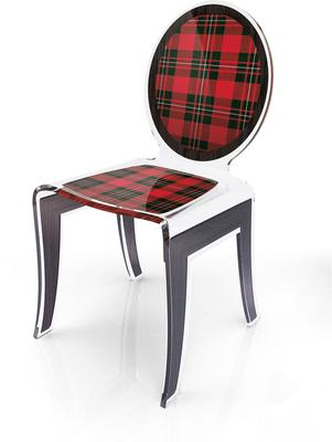 Acrylic Louis Chair Glossy French Quirky Design image 11