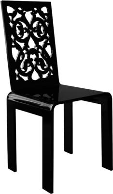 Acrylic Lace Chair in Black or White