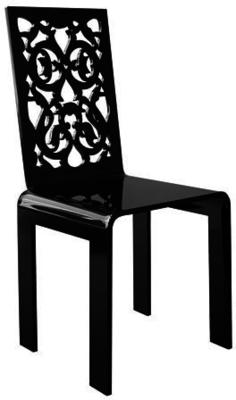 Acrylic Lace Chair in Black or White image 2