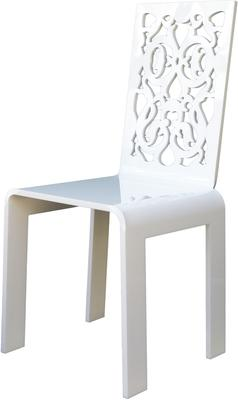 Acrylic Lace Chair in Black or White image 3