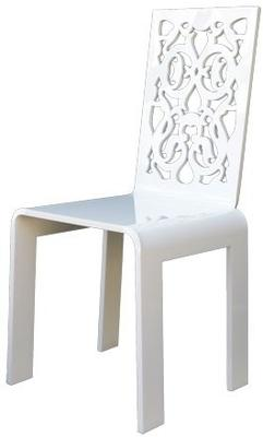 Acrylic Lace Chair in Black or White image 4