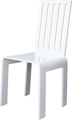 Acrylic Rung Chair Glossy French Style