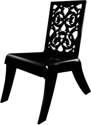 Acrylic Lace Relax Chair in Black or White