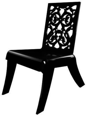 Acrylic Lace Relax Chair in Black or White image 2