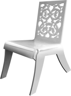Acrylic Lace Relax Chair in Black or White image 3