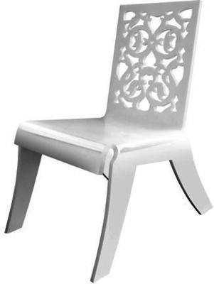Acrylic Lace Relax Chair in Black or White image 4