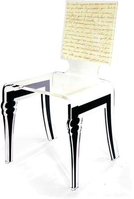 Square Picture Chair Acrylic French Style