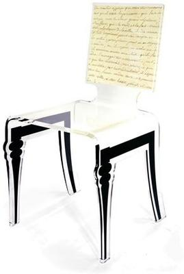 Square Picture Chair Acrylic French Style image 2