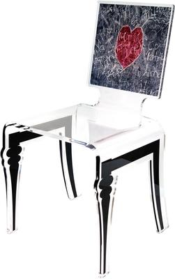 Square Picture Chair Acrylic French Style image 4