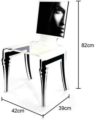 Square Picture Chair Acrylic French Style image 6