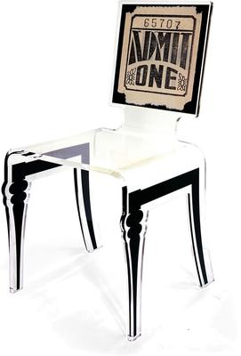 Square Picture Chair Acrylic French Style image 8