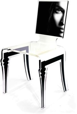 Square Picture Chair Acrylic French Style image 11