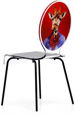 Oval Picture Chair Designer Acrylic Glass image 7
