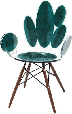 Acrylic Ovals Armchair Quirky Gloss Style