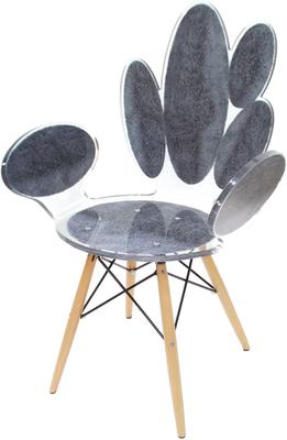 Acrylic Ovals Armchair Quirky Gloss Style image 3