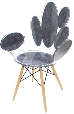 Acrylic Ovals Armchair Quirky Gloss Style image 4