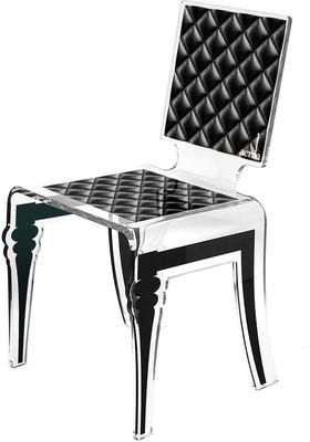 Padded Effect Glossy Acrylic Chair