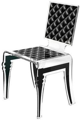 Padded Effect Glossy Acrylic Chair image 2