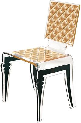 Padded Effect Glossy Acrylic Chair image 3